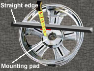 Wheel backspace measurement