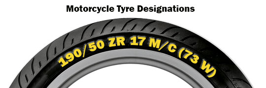 Motorcycle Tyre Size Designations