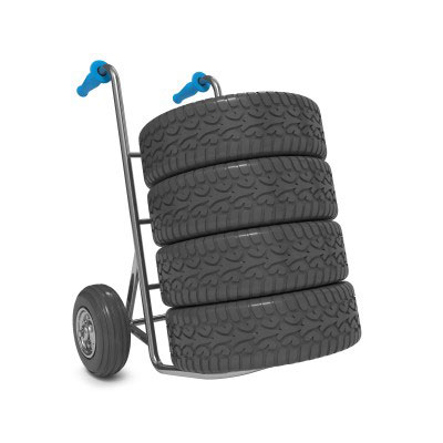 Tyres on hand truck