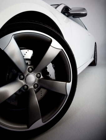 Wheel on the sports car